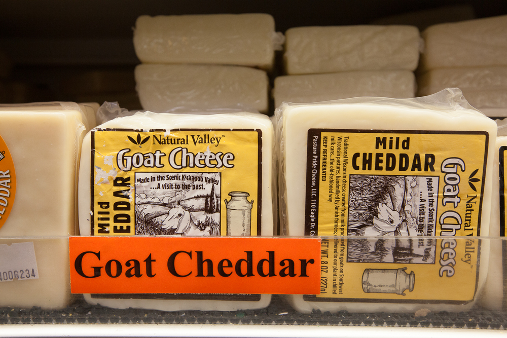 Mana Foods Cheese Department Goat Cheese Selection