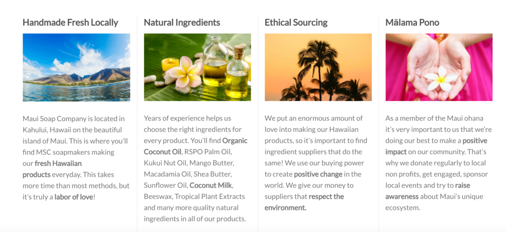 Image Source: Maui Soap Company