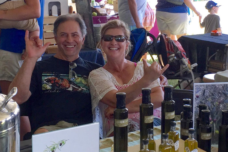 The owners & founders of Olinda Olive Orchard, Sal & Erin