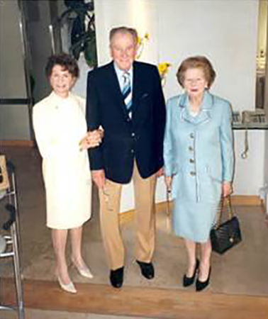 Margaret Thatcher at Santini Belgravia London