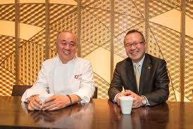 Chef Nobu Matsuhisa and Hikari Miso CEO Yoshihiro Hayashi