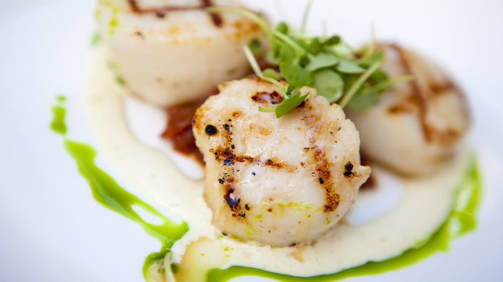 GRILLED SCALLOPS WITH CITRUS HERB GREMOLATA