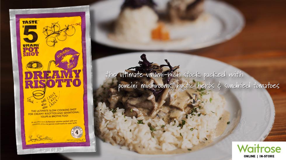 """Taste #5 PotShot """"Dreamy Risotto"""" Simmer Sauce"""