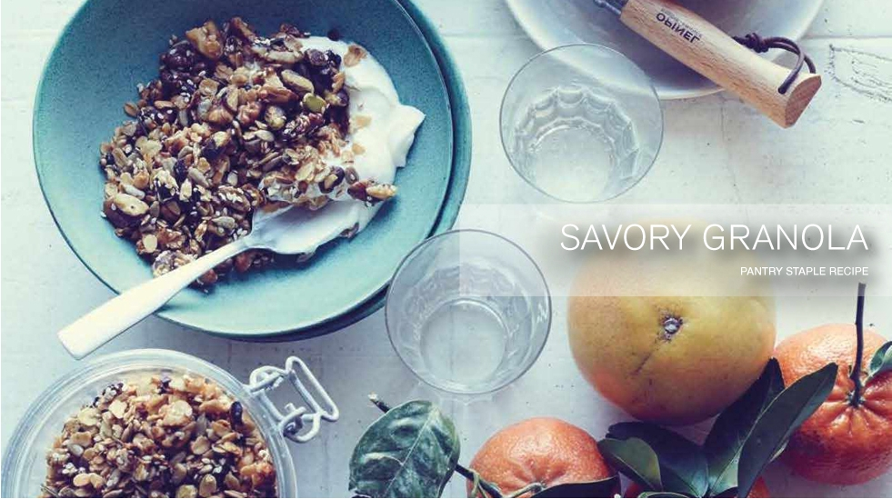 "Savory ""Handbag Heaven"" Granola"