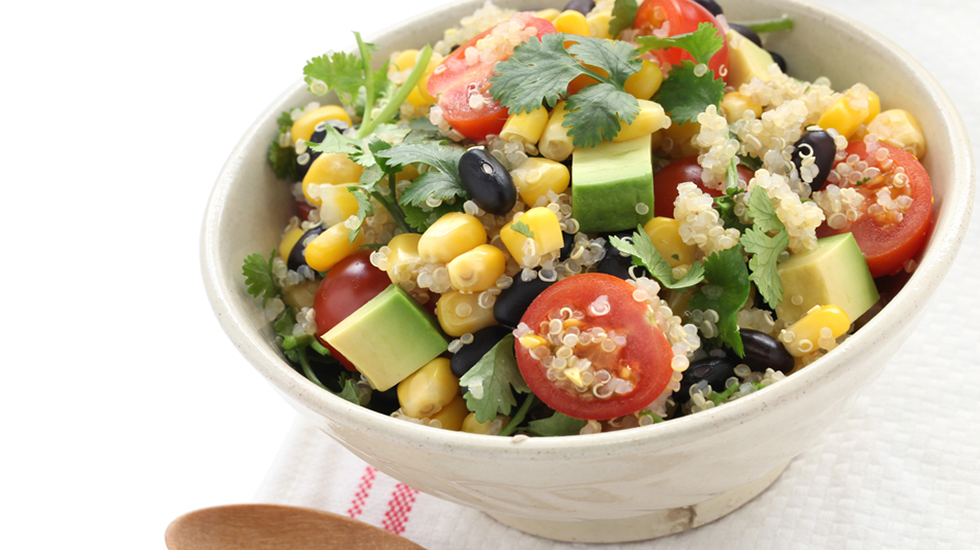 Charred Corn Quinoa Salad
