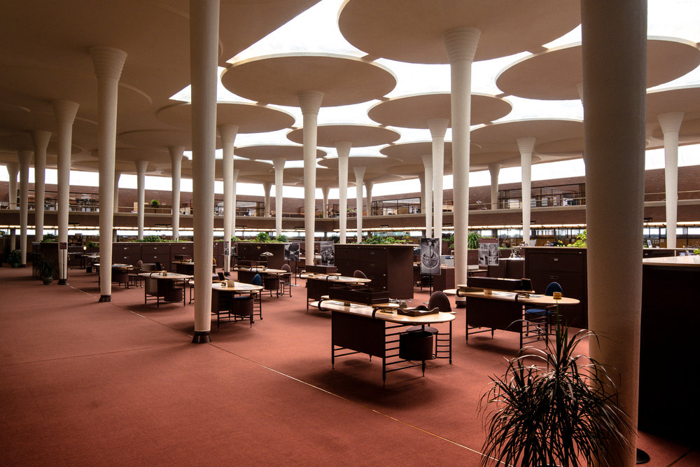I got the awesome opportunity to tour the SC Johnson Campus in Racine, Wisconsin. SCJ is a title sponsor for the Chicago Architecture Biennial. SC Johnson is offering free bus tours that leave from Chicago and take people to the campus in Racine. They are celebrating Frank Lloyd Wright and all of his amazing design found on the campus. Here are some of the shots I got while I was there. Click here to learn more.