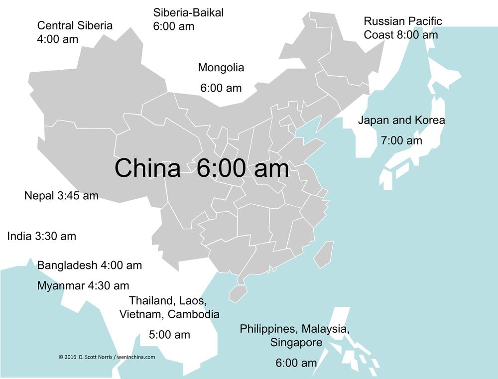 China Time Zones Weninchina