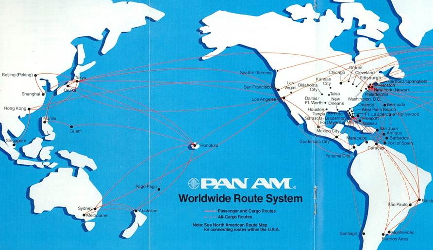 Pan Am's Pacific system in 1982-1984