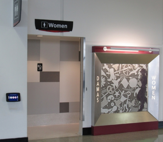 D-gate restroom entrance