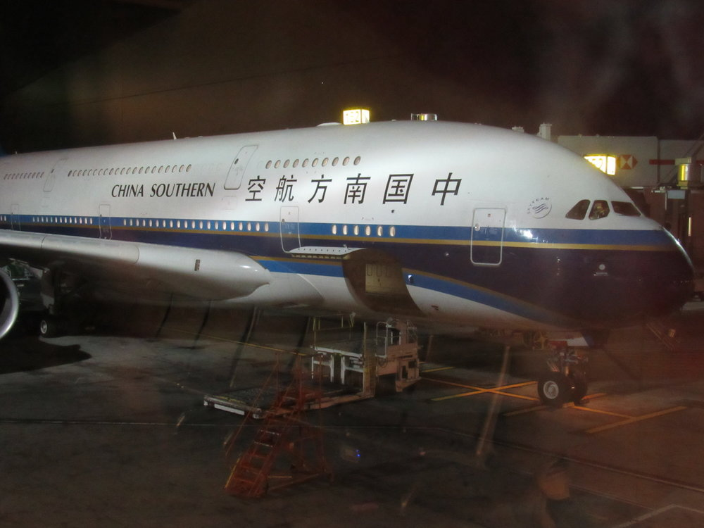 A380 used by China Southern on the Los Angeles - Guangzhou route