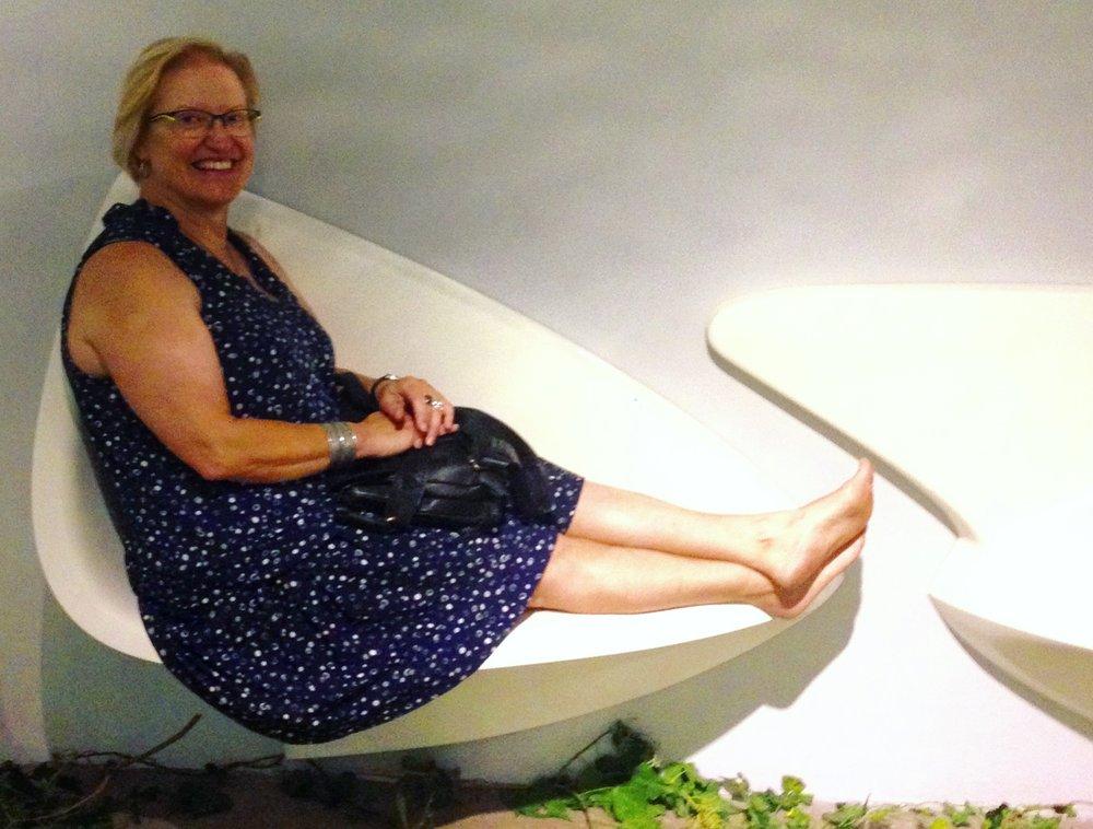 Anita enjoy the Embrace chair