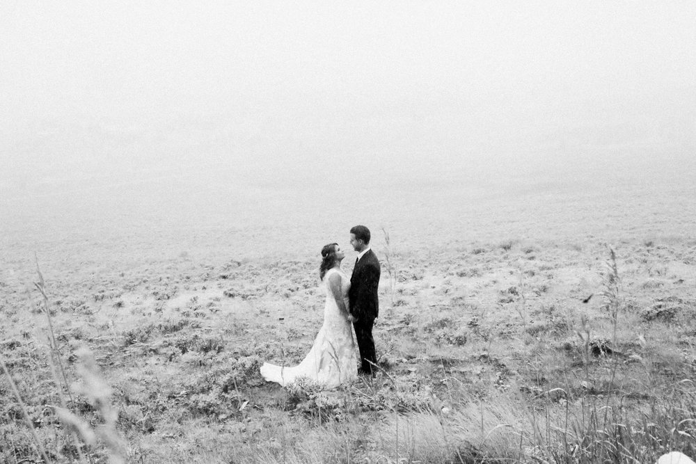 A Snowy September Wedding on Aspen Mountain