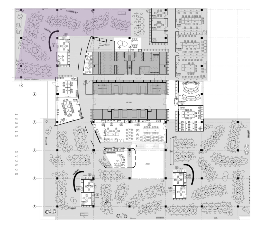 FLOOR PLATE AREA | DEPARTMENT 1 | FINANCIAL SERVICES