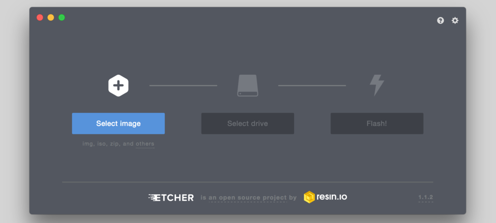Etcher.io or other similar SC card programmers may be used
