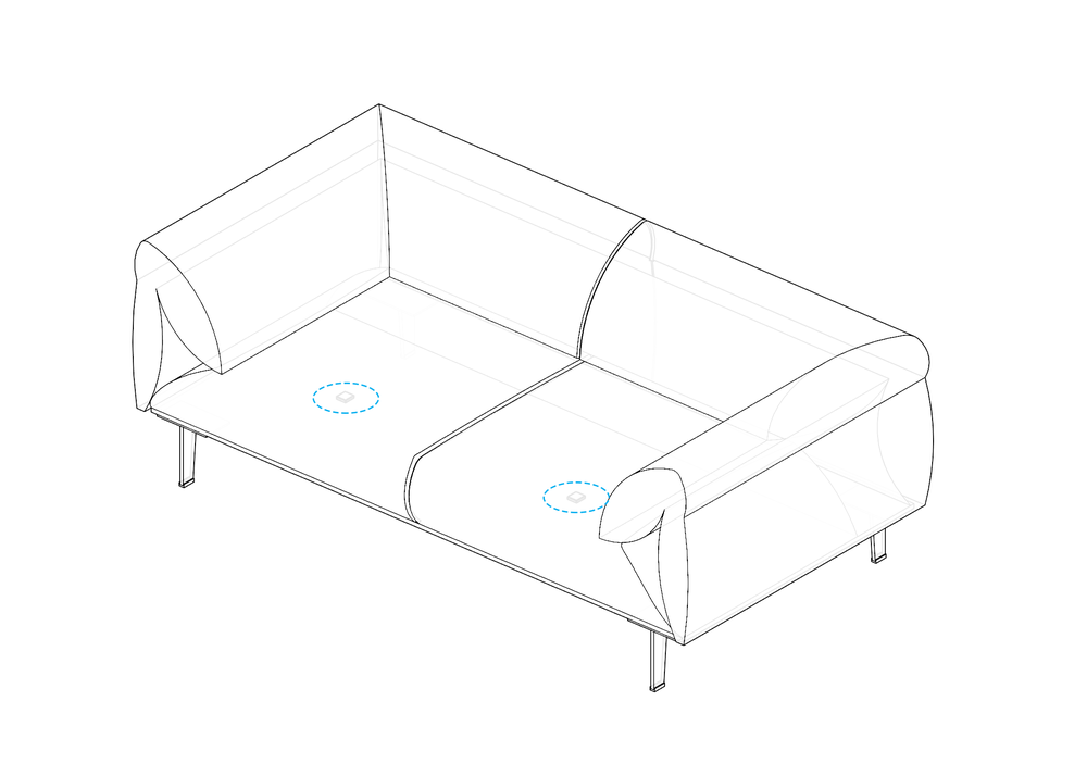 Vibration Sensing on Sofa