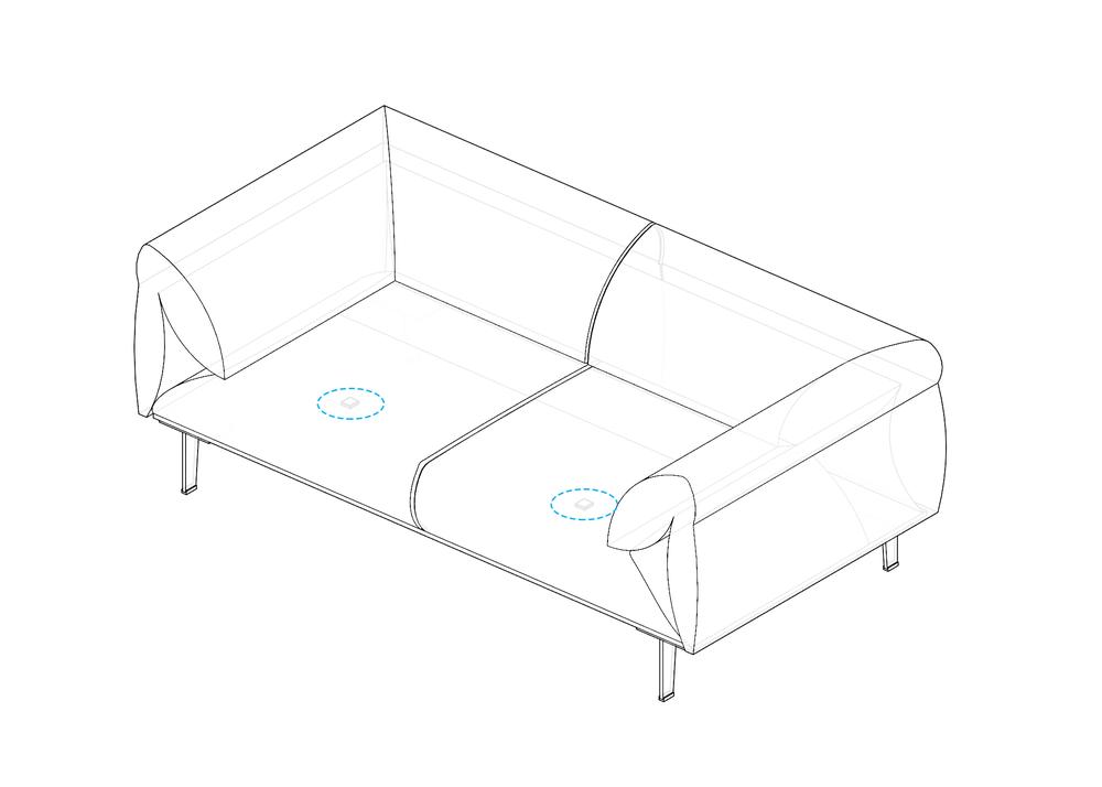 Vibration Sensing on Sofa