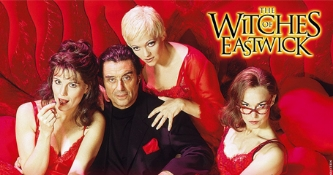"London's West End production of ""The Witches Of Eastwick"" starred (l-r) Lucie Arnaz, Ian McShane, Maria Friedman and Joanna Riding (2000-2001)."