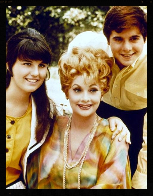 "Lucie co-starred with Lucille Ball and Desi Arnaz, Jr, in ""Here's Lucy."""