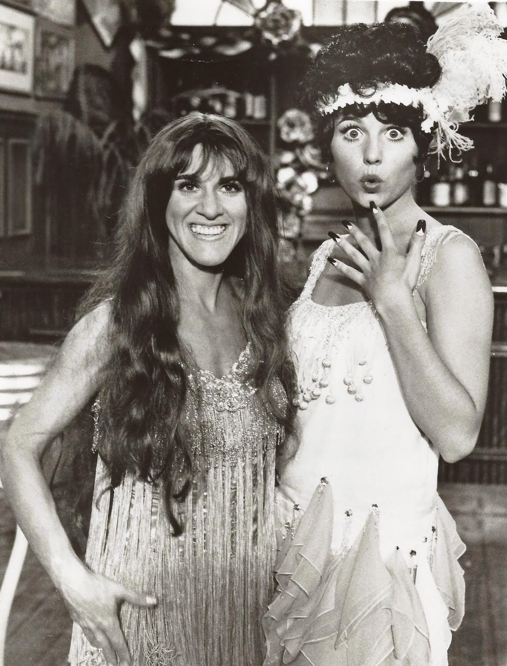 "Lucie performs with Ruth Buzzi in ""Here's Lucy."""