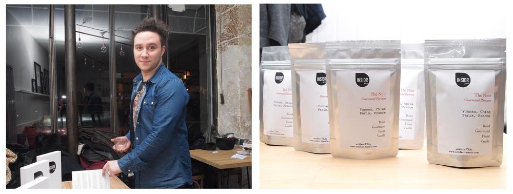 Paris' Tea master Fadel from Artefact-Marais and his special INSIDR tea