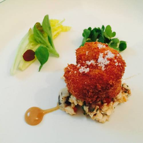 Paris Michelin Star Restaurant; Deep-fried crunchy crayfish