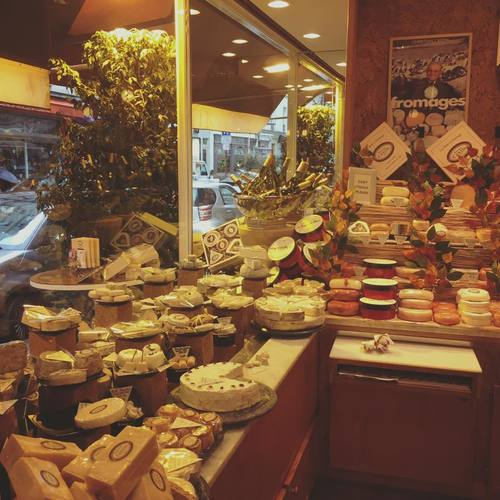 Countless varieties, French cheese stand