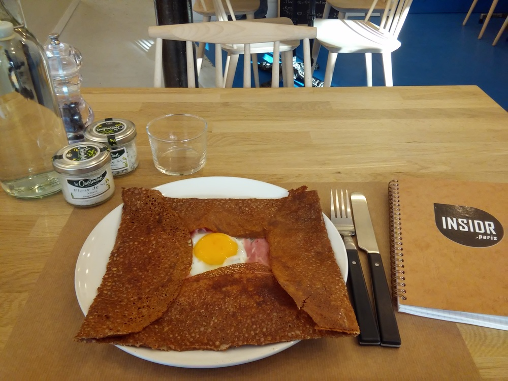 Wonderful galette - crêpe of buckwheat flour