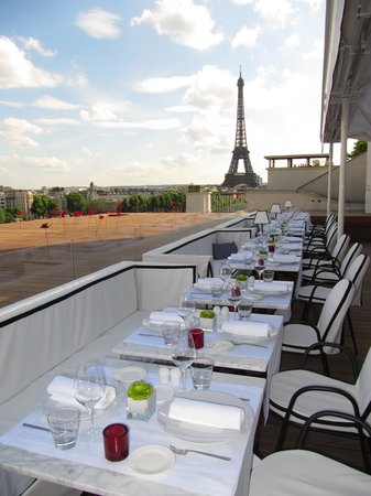 Paris Restaurants with a View of the Eiffel Tower - La Maison Blanche restaurant