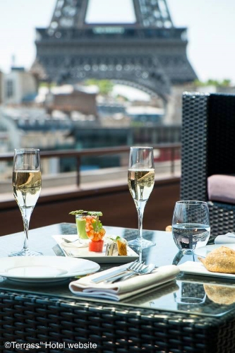 Best Paris Restaurants with a View of the Eiffel Tower -  Les Ombres, restaurant