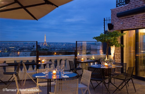 Paris Restaurants with a View of the Eiffel Tower - Terass hotel