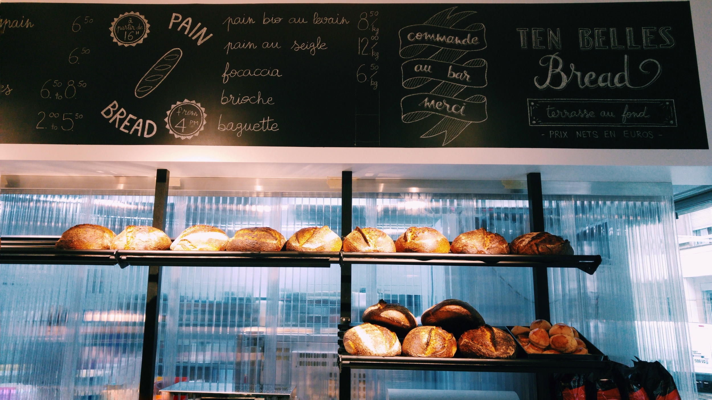 Ten belles bread insidr paris for Food bar blayney