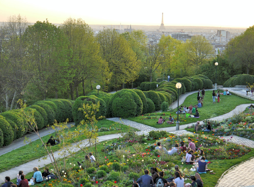 Best views in Paris : Parc de Belleville