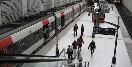 Plataforma RER B (tren expreso hacia París)- Foto por © ratp.fr