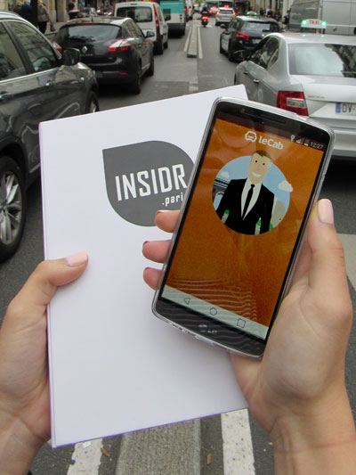 LeCab in the INSIDR phone