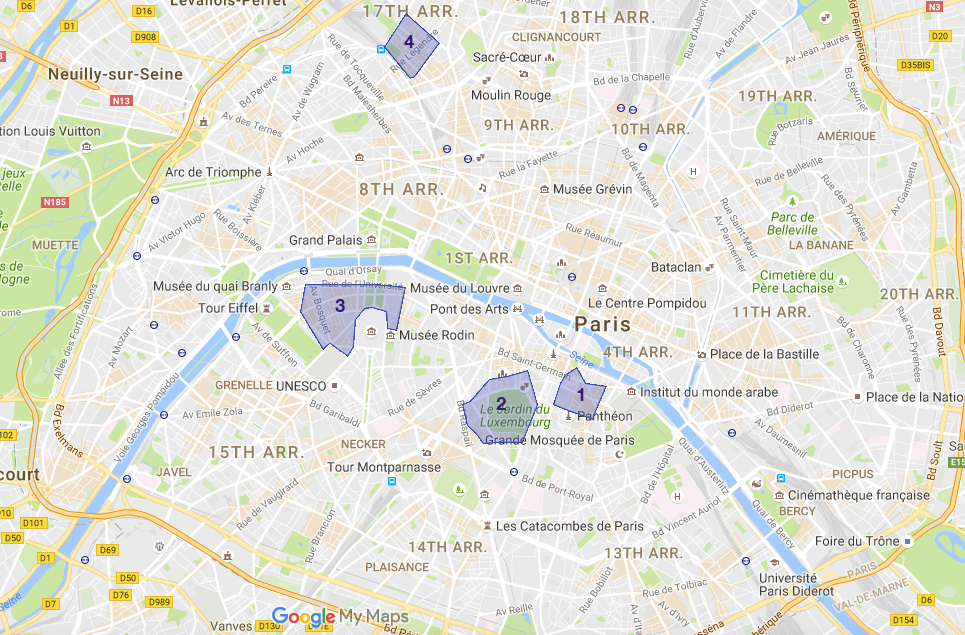 best location for a family in Paris