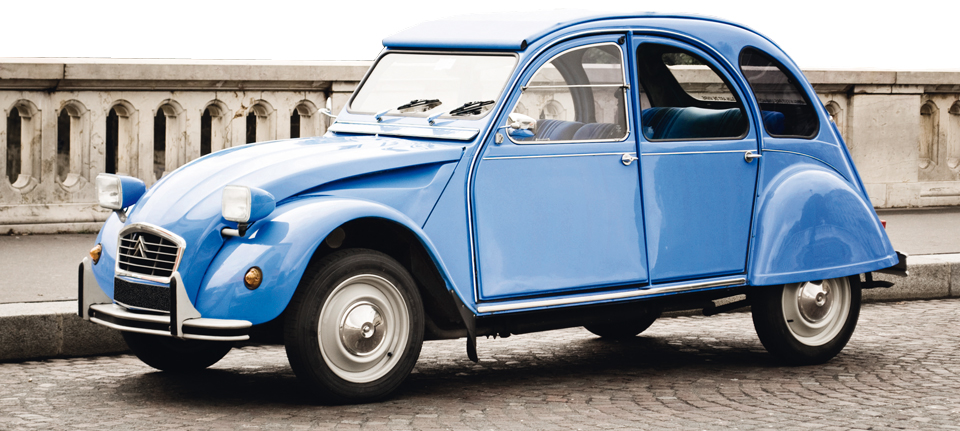 2cv Paris renting cars in France