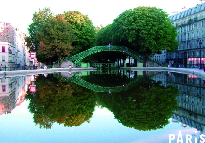 Canal bike ride in Paris