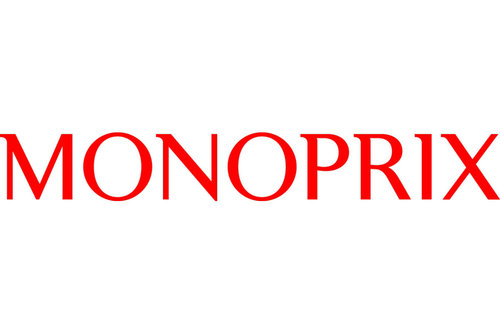 Grocery Stores in Paris and France; Monoprix logo
