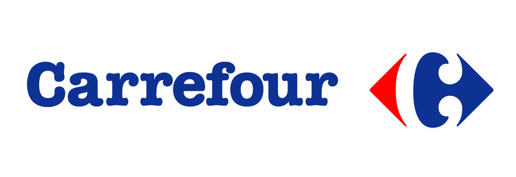 Grocery Stores in Paris and France; Carrefour logo
