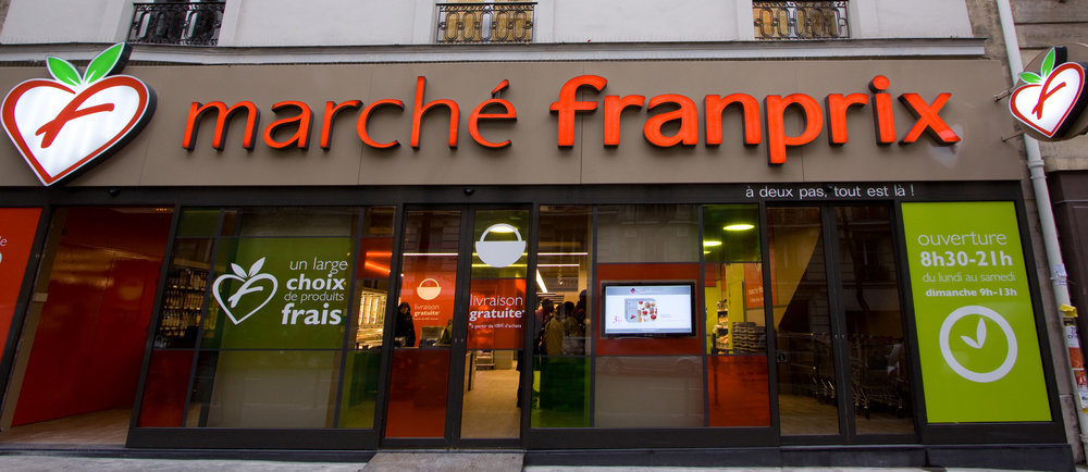 Grocery Stores in Paris and France; Franprix supermarket