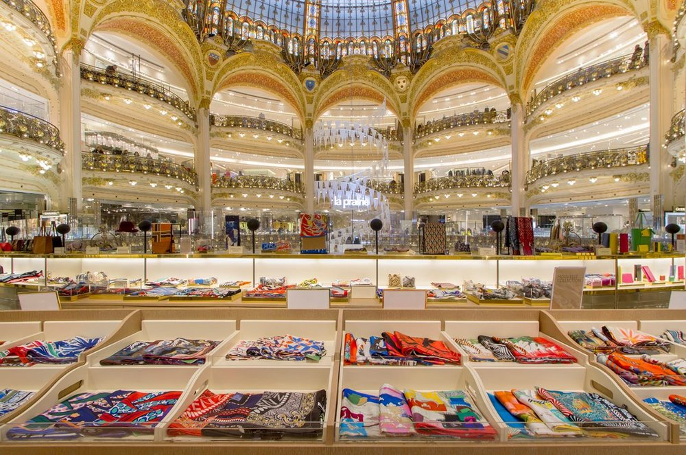 What to do in Paris in one day; Photo credit: Galeries Lafayette