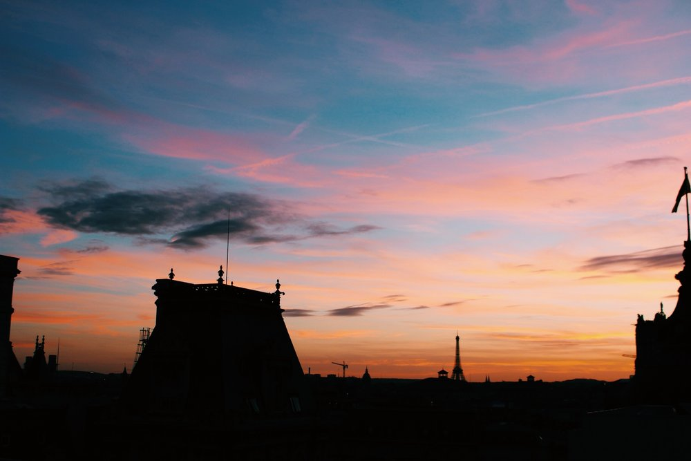 Sunset view of Paris