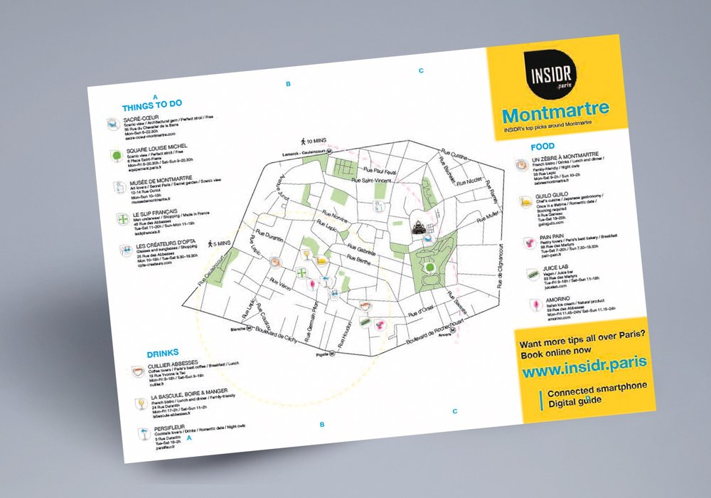free montmartre map