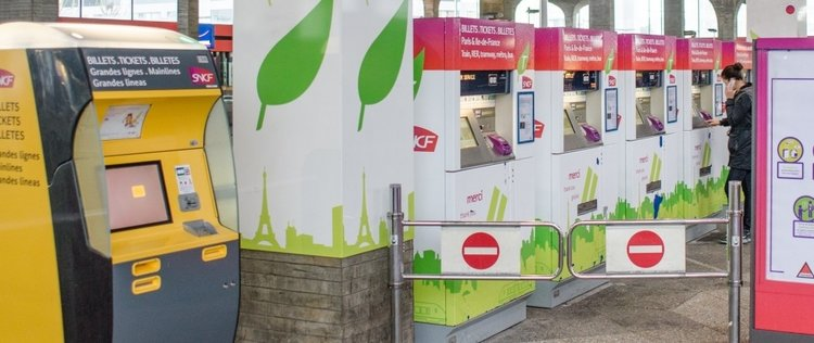 เครื่องขายตั๋วรถไฟใต้ดิน - รูปภาพจาก:ratp.fr