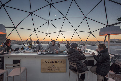 Top rooftop bars in Paris #1 Ice Cube Bar at Galleries Lafayette