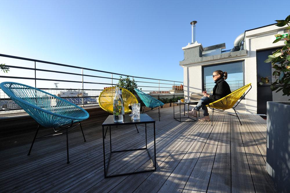 The rooftop at Les Piaules, Photo Credit:lespiaules.com