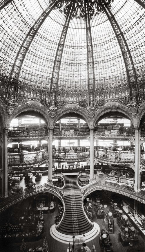 THE ARCHITECTURE OF THE OLDEST PARIS DEPARTMENT STORE