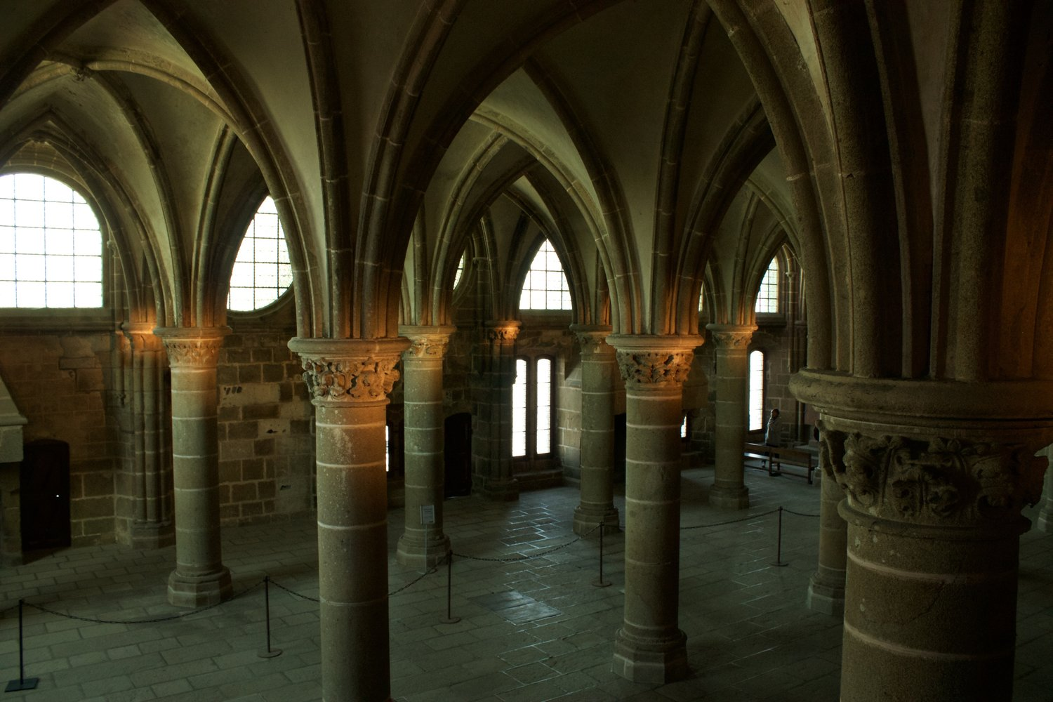 Mont Saint-Michel abbey interior