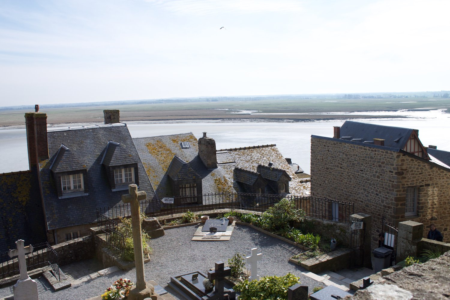 Cemetery on Mont Saint-Michel