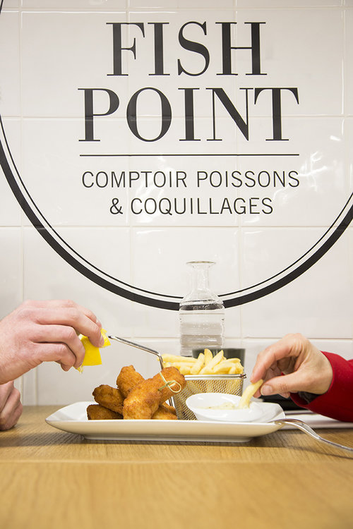 Oysters in Paris for shopaholics: FISH POINT at Lafayette gourmet